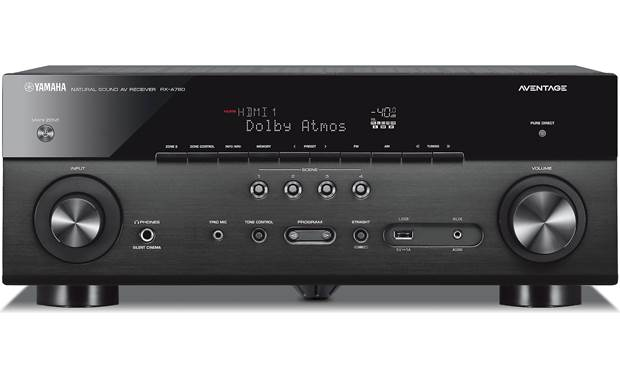Yamaha AVENTAGE RX-A780 72-channel home theater receiver with Wi-Fi