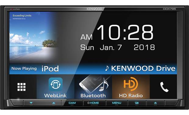 Kenwood Excelon DDX795 DVD receiver at Crutchfield