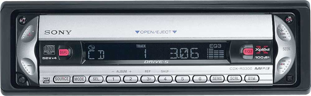 Sony CDX-R3300 CD/MP3 receiver at Crutchfield