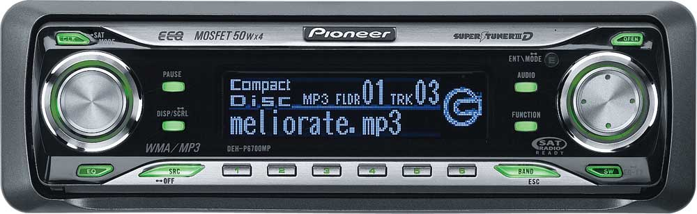 Pioneer DEH-P6700MP CD receiver with MP3 / WMA playbackFeatures the