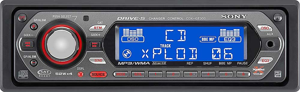 Sony CDX-GT300 CD player with MP3/WMA playback at Crutchfield