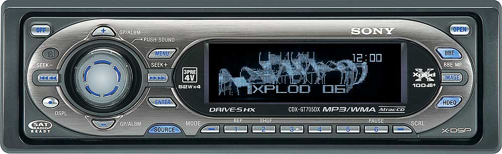 Sony CDX-GT705DX CD player with MP3/WMA playback at Crutchfield