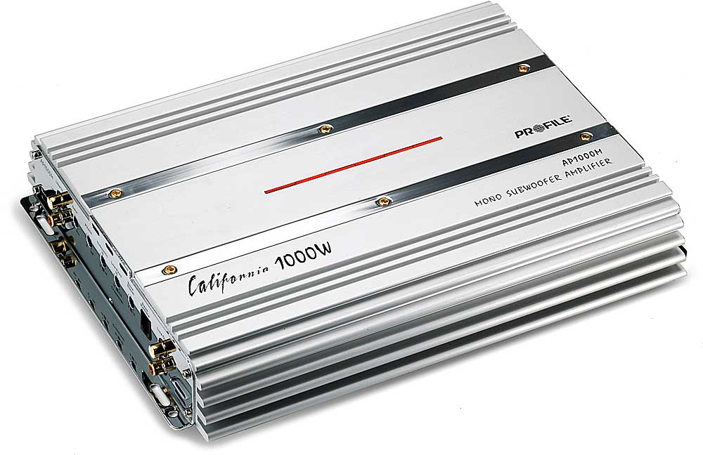 Profile AP1000M Mono subwoofer amplifier 500 watts RMS x 1 at 2 ohms