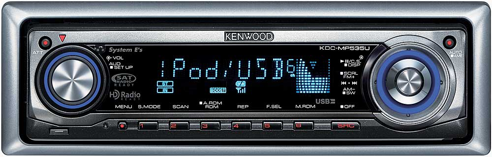 Kenwood KDC-MP535U CD receiver with MP3/WMA/AAC playback at