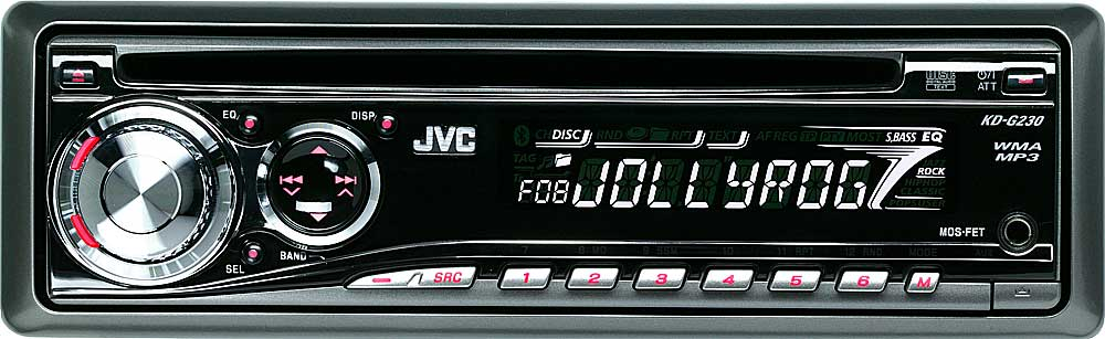 JVC KD-G230 CD receiver with MP3/WMA playback at Crutchfield