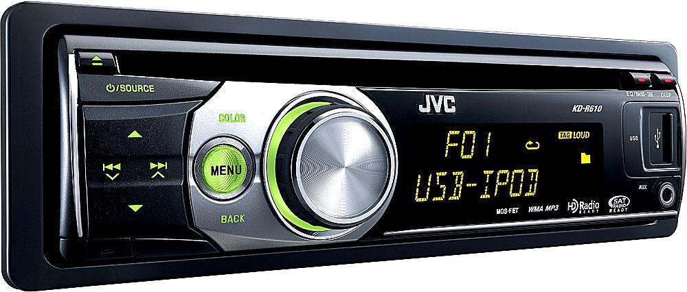 JVC KD-R610 CD receiver at Crutchfield
