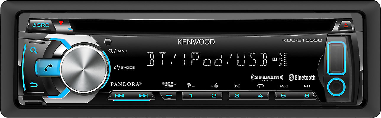 Kenwood KDC-BT555U CD receiver at Crutchfield