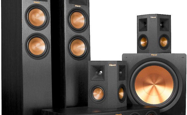 Klipsch Rp 280 5 1 Home Theater Speaker System Ebony Front Center Featuring High Performance