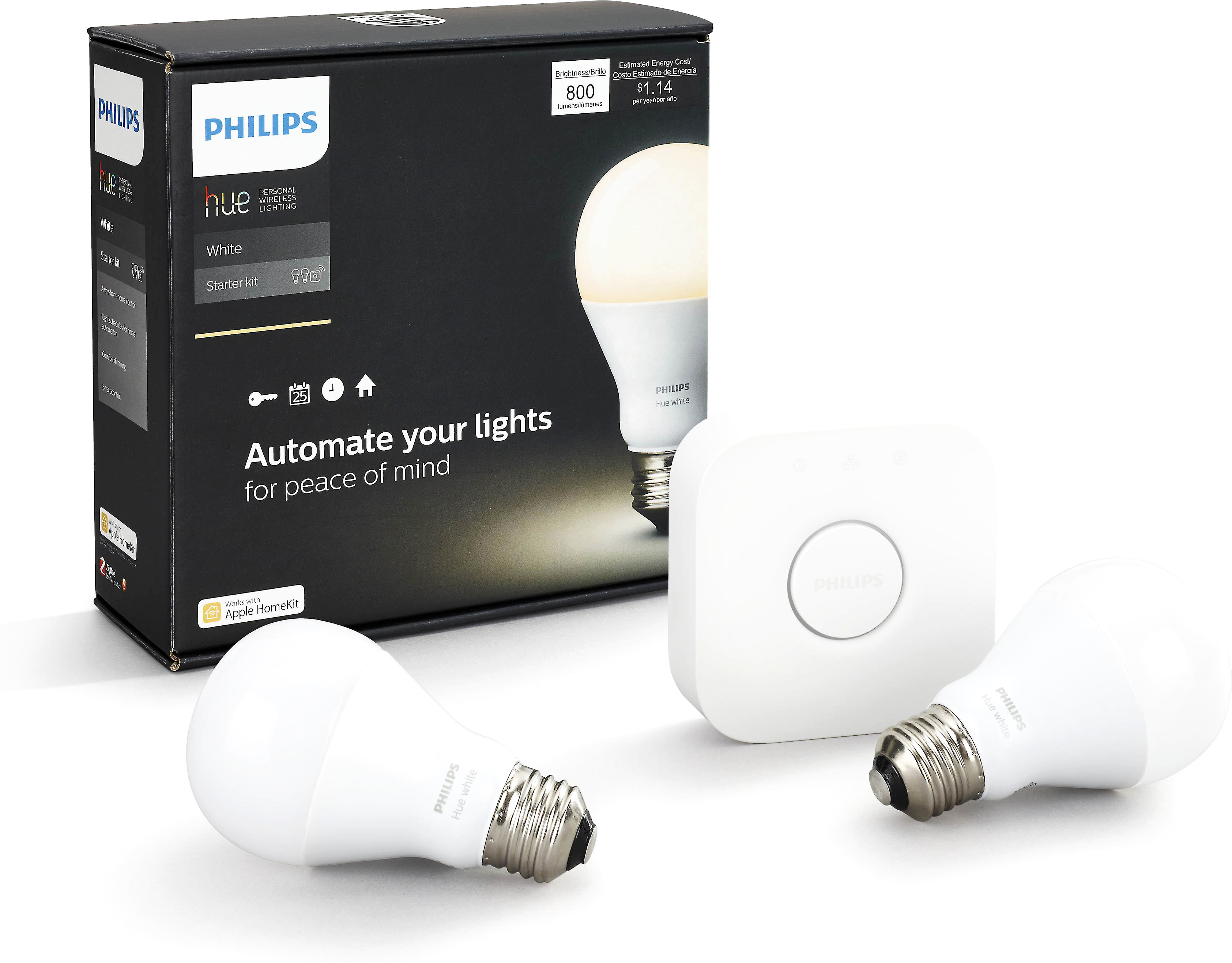 Philips Hue Bridge Homekit Philips Hue White A19 Starter Kit