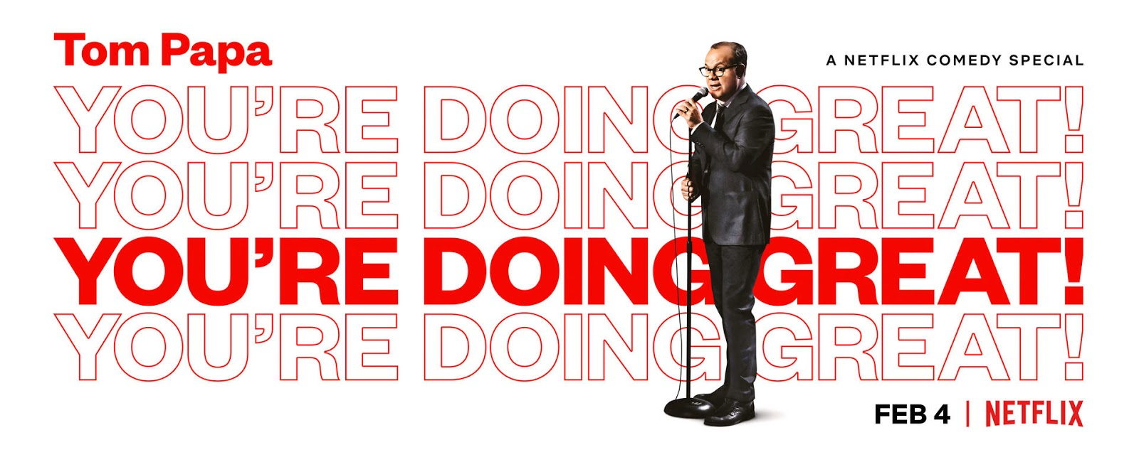 About Netflix Tom Papa You Re Doing Great Trailer Debut