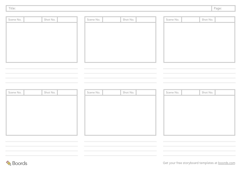 40+ FREE storyboard templates (PDF, PSD, Word  PPT) - storyboard template pdf