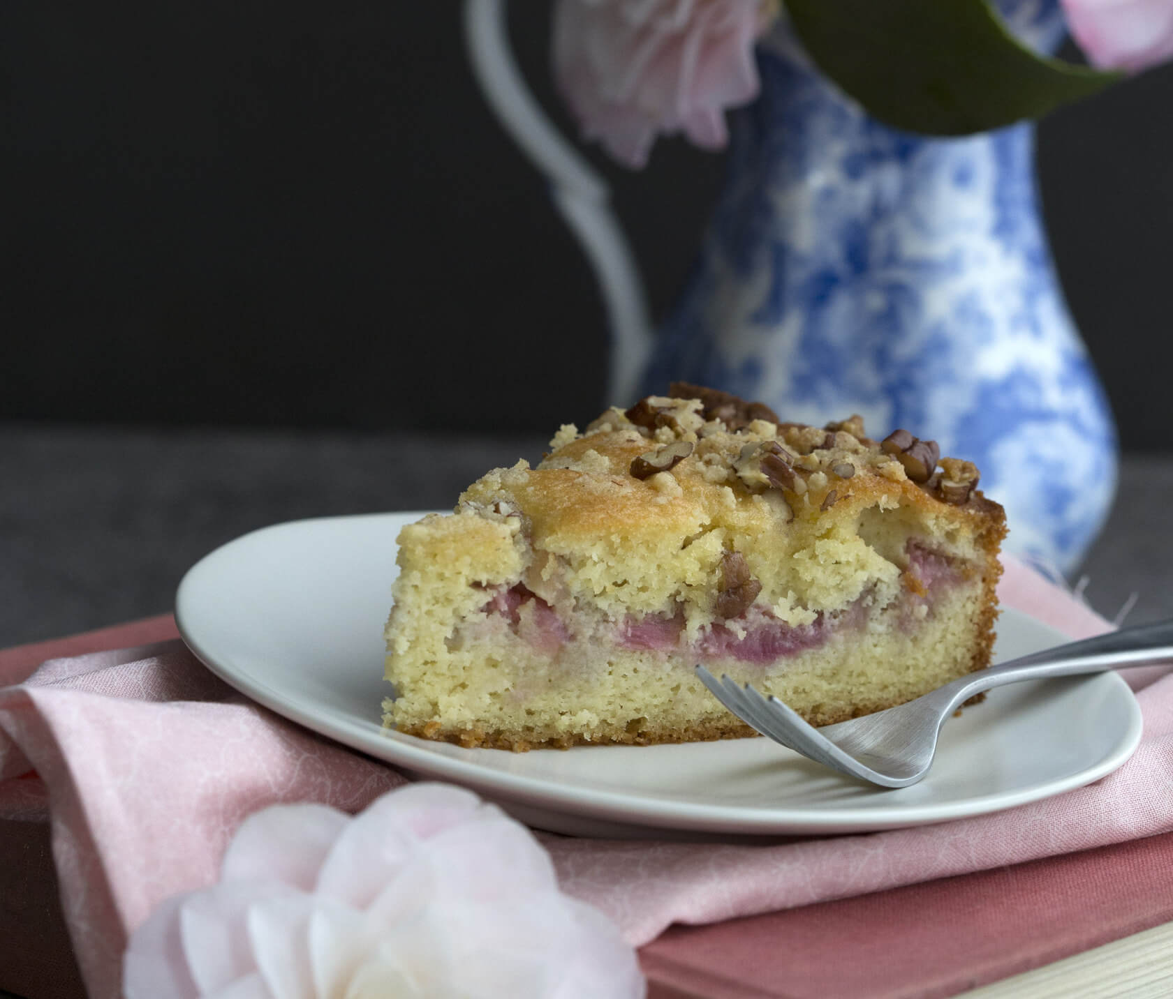 Low Carb Protein Kuchen Low Carb Rhubarb Coffee Cake