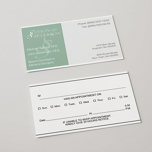 Appointment Card Printing Helloprint