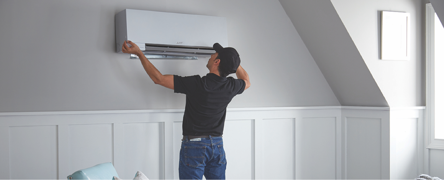 Garage Attic Air Conditioner Mitsubishi Ductless Mini Split Air Conditioning At The Home Depot