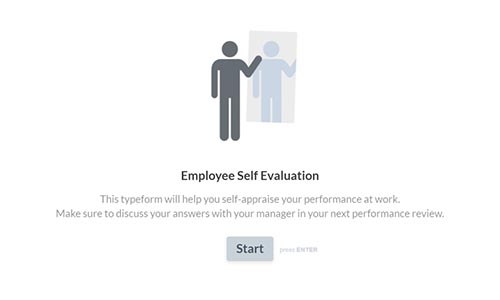 Create Employee Self Evaluation Forms Typeform Templates