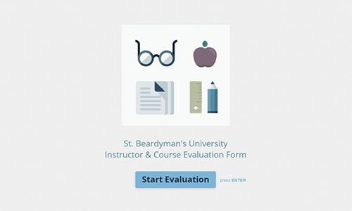 Free Teacher  Course Evaluation Form Template Typeform Templates