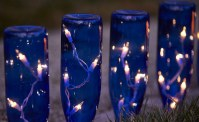 Wine bottle garden lights | Garden Gate