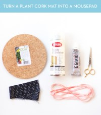 How to: Make a Patterned Mousepad from a Cork Mat   Curbly