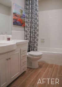 Before and After: Refinished Tile Bathroom Makeover   Curbly