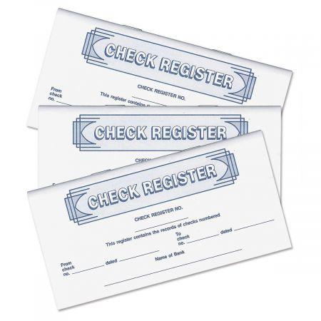 Checkbook Registers - Deposit Slips and Registers - Check