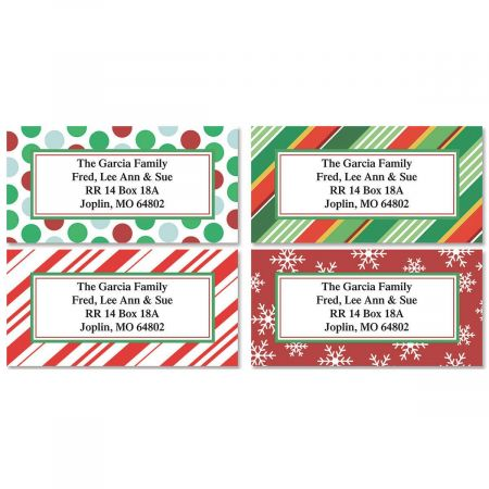 Holiday Border Address Labels Current Catalog