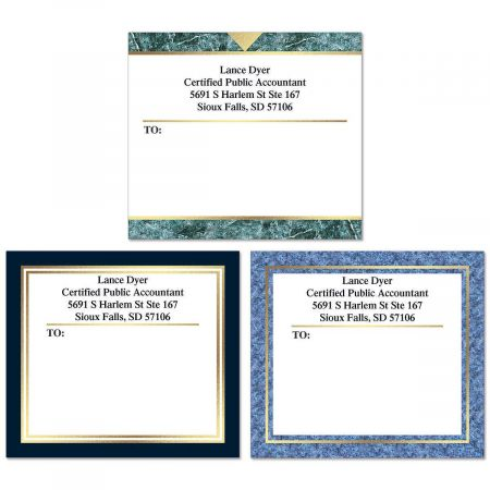Foil Accents Mailing Package Label (3 Designs) Current Catalog