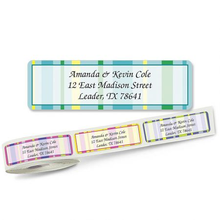 Graphic Stripes Designer Rolled Address Labels Current Catalog