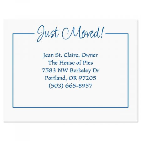 Just Moved New Address Postcards Current Catalog