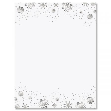Silver Snowflakes Christmas Letter Papers Current Catalog