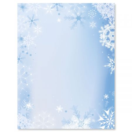 Snowfall  Flakes Christmas Letter Papers Current Catalog