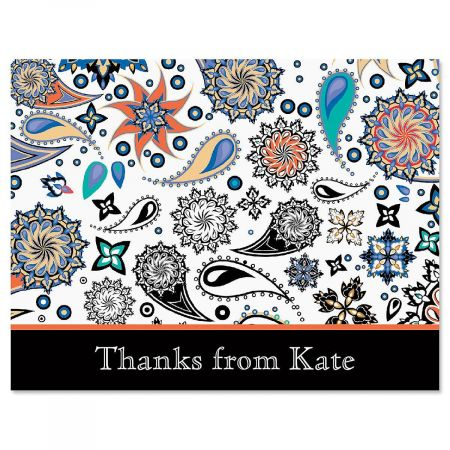 Color Paisley Personalized Thank You Cards Current Catalog