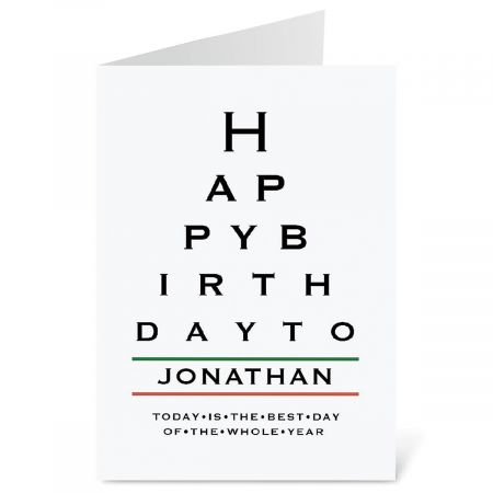 Eye Chart Select-A-Card Current Catalog