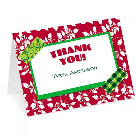 Holiday Tape Personalized Thank You Cards Current Catalog