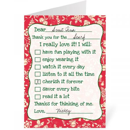 Christmas Thanks Personalized Thank You Cards Current Catalog