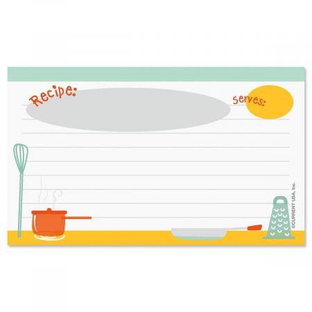 Kitchen Recipe Cards - 3 x 5 Current Catalog