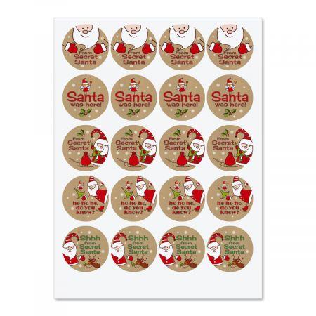 Secret Santa Envelope Sticker Seals Current Catalog