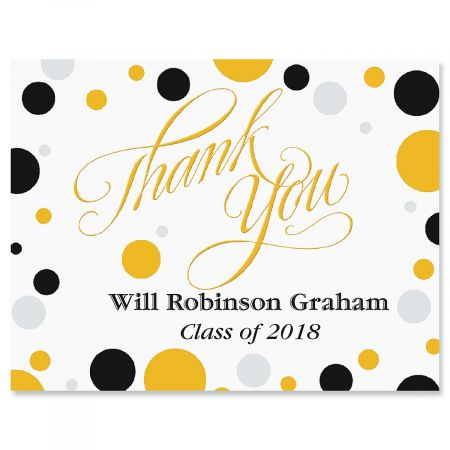 Grad Dots Graduation Personalized Thank You Note Cards Current Catalog