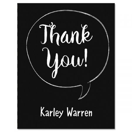 Chalkboard Graduation Personalized Thank You Note Cards Current