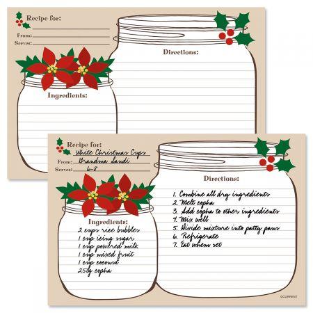 Christmas Mason Jar Recipe Cards Current Catalog