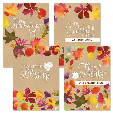 Modern Kraft Thanksgiving Cards Current Catalog