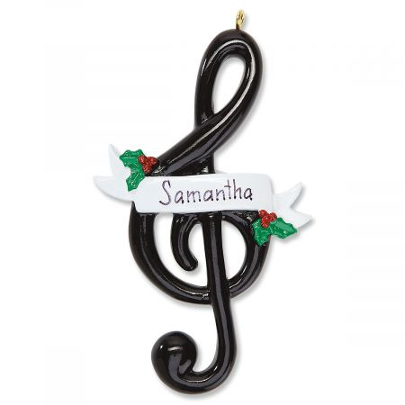 Personalized Treble Clef Ornament Current Catalog