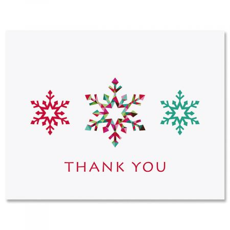 Snowflakes Thank You Note Cards Current Catalog