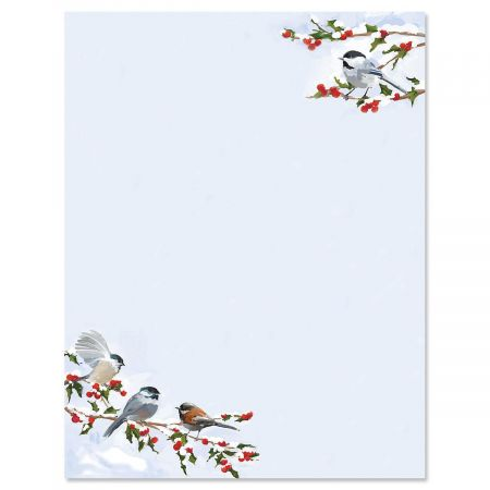 Chickadee Berry Christmas Letter Papers Current Catalog