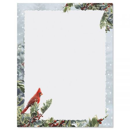 Winter Solitude Christmas Letter Papers Current Catalog