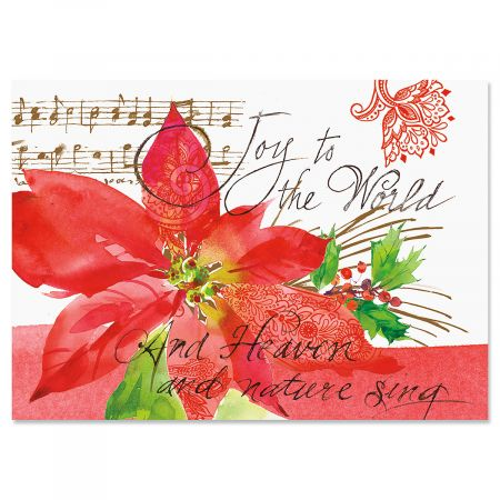 Poinsettia Melody Christmas Cards Current Catalog