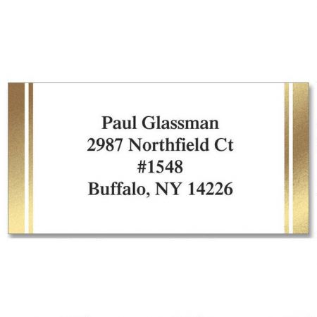 White  Gold Foil Label Current Catalog - Address Label