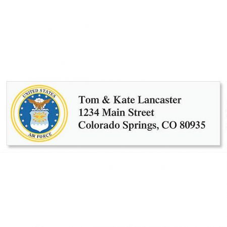 Air Force Address Labels Current Catalog - Address Label