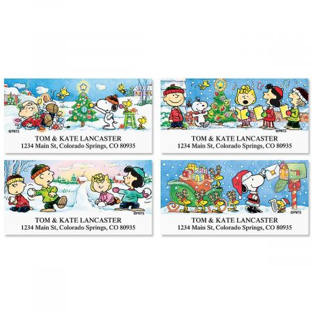 PEANUTS® Holiday Fun Address Labels Current Catalog