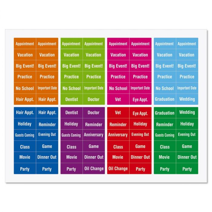 192 Mini Calendar Stickers Current Catalog