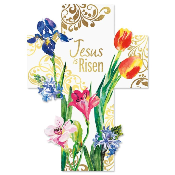 Cross Deluxe Foil Diecut Religious Easter Cards Current Catalog